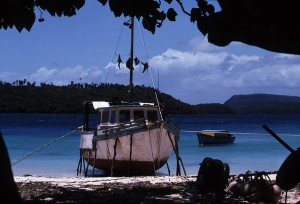 A boat in Tonga in 1995 (M Pitts)